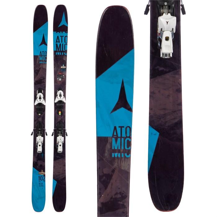 Atomic Automatic 102 Skis + FFG 12 Bindings 2016 - Used