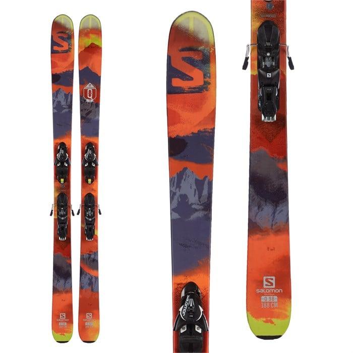 Salomon Q-98 Skis + Z12 Demo Bindings 2016 - Used