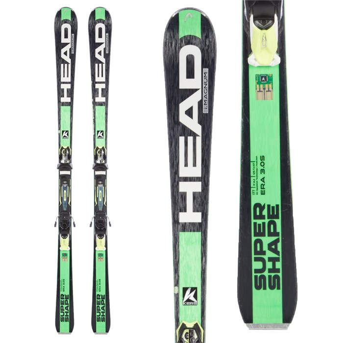 Head i supershape magnum skis prx bindings