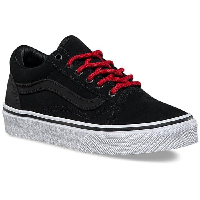 vans old skool racing red black