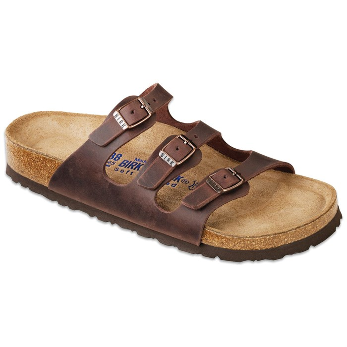 Birkenstock - Florida Oiled Leather Soft Footbed Sandals - Women's