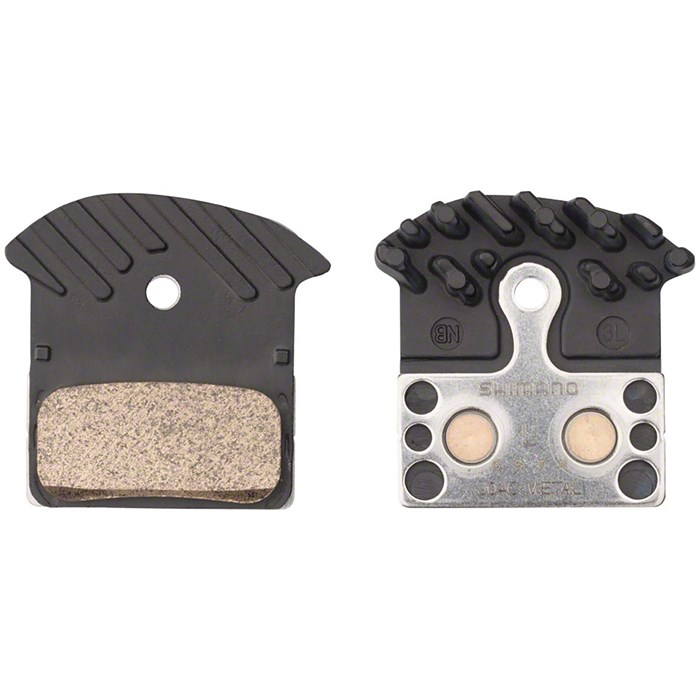 Shimano - J04C Metal Disc Brake Pads with Fins