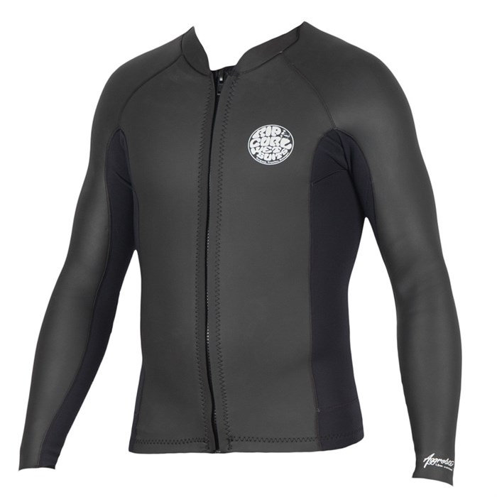 Rip Curl - 1.5mm Aggrolite Long Sleeve Front Zip Wetsuit Jacket