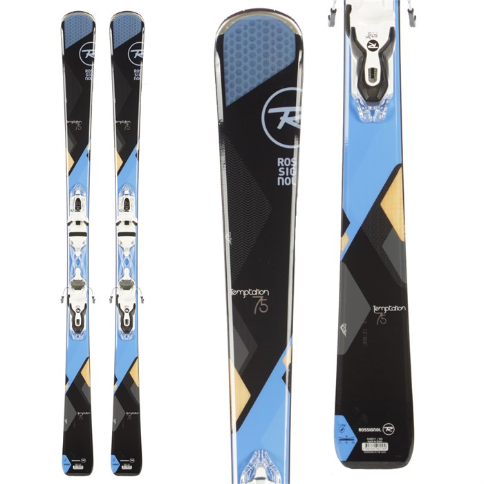 Rossignol Temptation 75 Skis + Xelium Saphir 100 Bindings