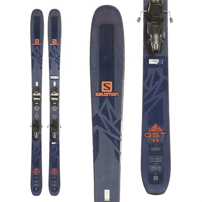 Salomon QST 99 Skis + Marker Griffon Demo Bindings 2017
