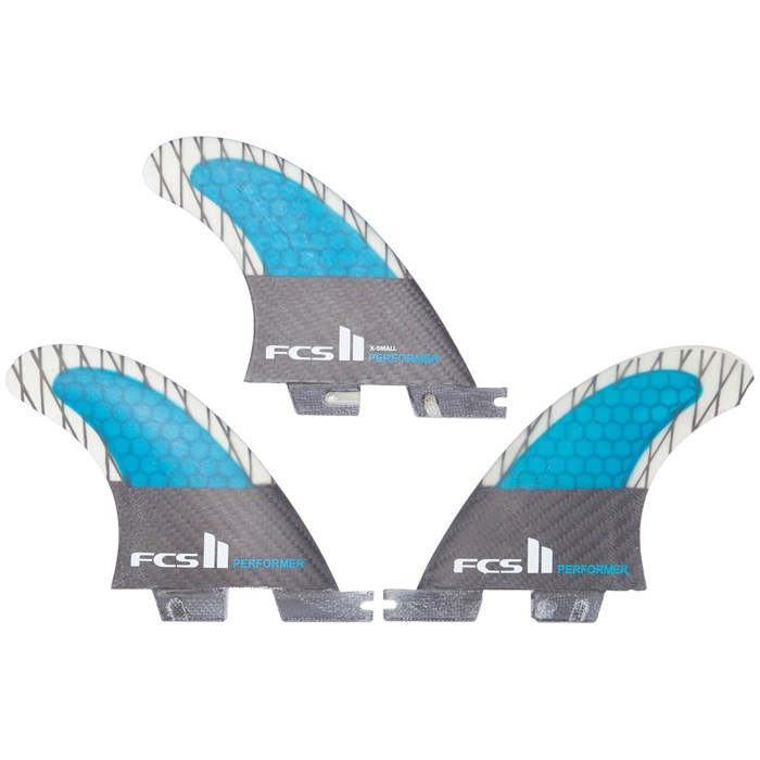 FCS II Performer PC Carbon Extra Small Tri Fin Set
