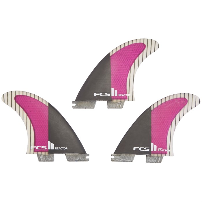 FCS - II Reactor PC Carbon Large Tri Fin Set