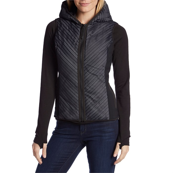 Blanc Noir - Chevron Mesh Reflective Hooded Vest - Women's