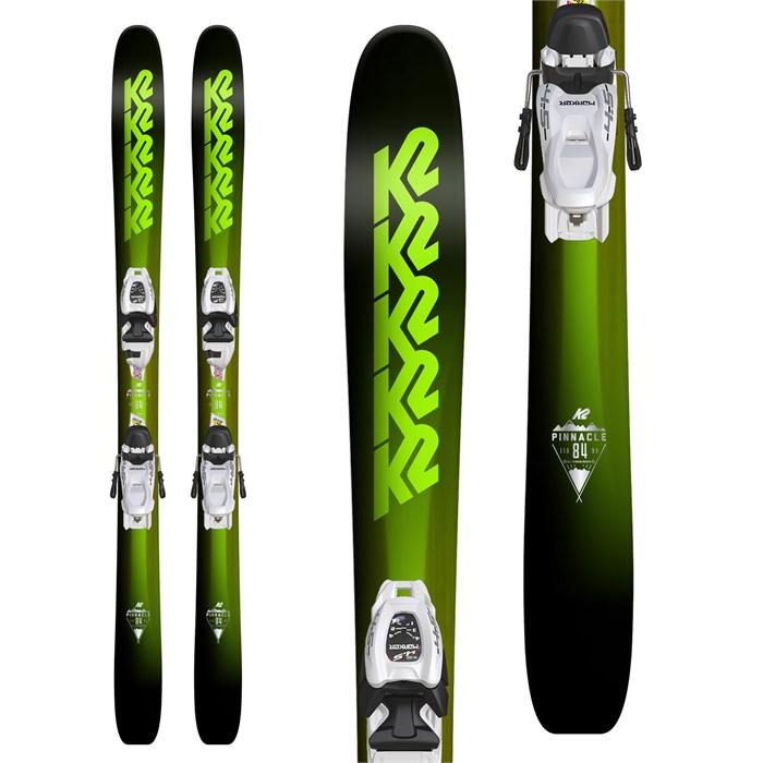 K2 - Pinnacle Jr. Skis + Marker FDT 7.0 Bindings - Boys' 2018