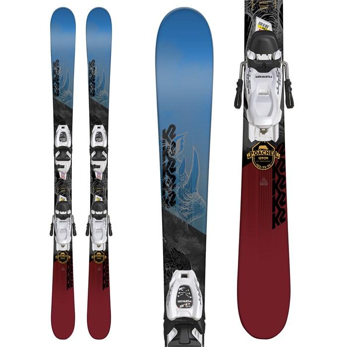 K2 Poacher Jr. Skis + Marker FDT 4.5 Bindings
