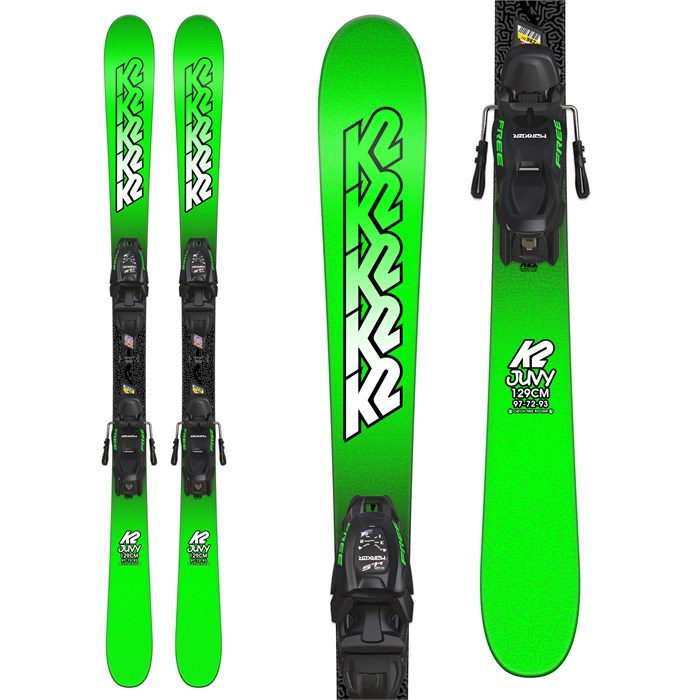 K2 - Juvy Skis + Marker FDT 7.0 Bindings - Boys' 2019