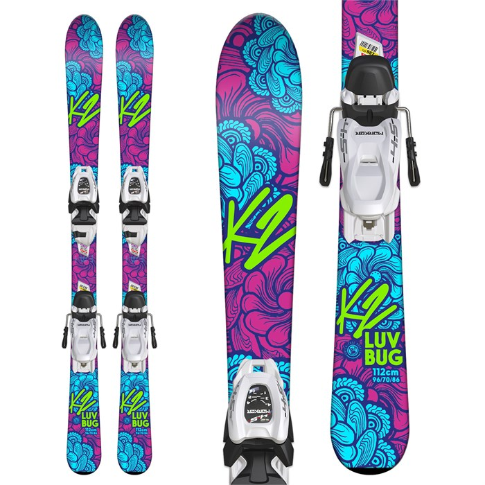 K2 - Luv Bug Skis + Marker FDT 4.5 Bindings - Little Girls' 2018