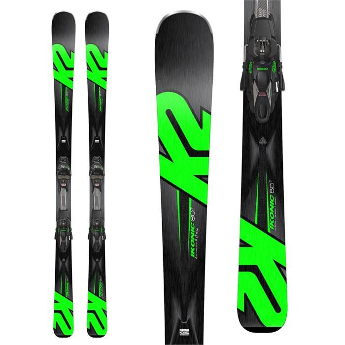 K2 - iKonic 80Ti Skis + MXC 12 TCX Light Quikclik Bindings 2018