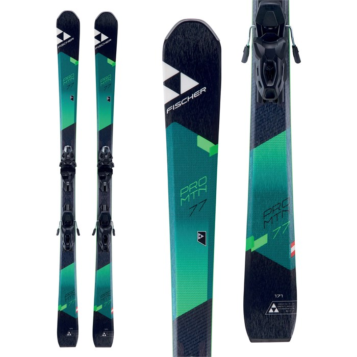 Fischer Pro MTN 77 Skis + MBS 10 Powerrail Bindings 2018