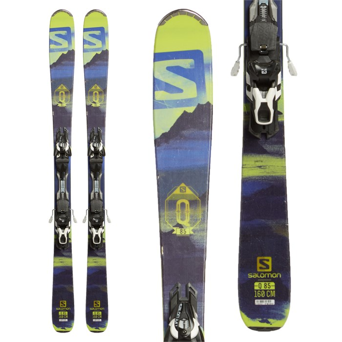 Salomon Q-85 R Skis + Z12 Bindings 2016 - Used