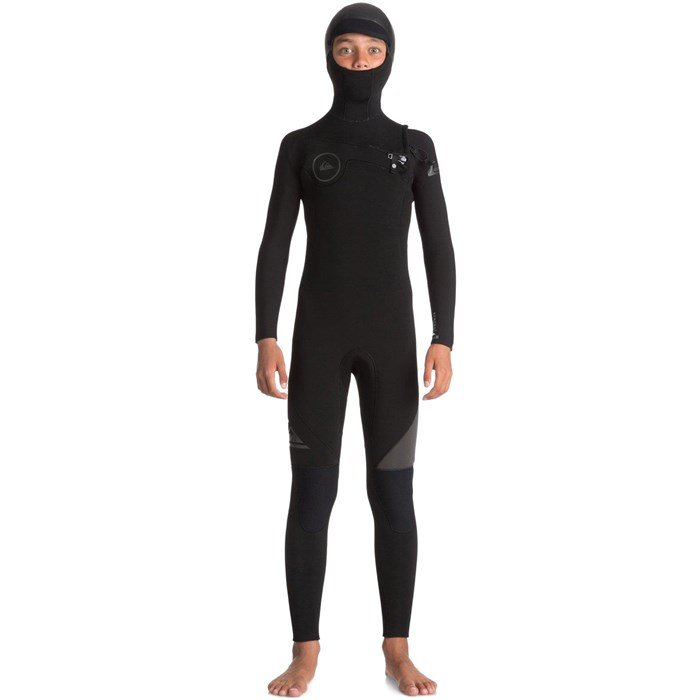 Quiksilver - 5/4/3 Syncro Chest Zip GBS Hooded Wetsuit - Boys'