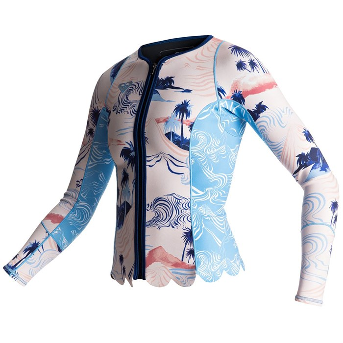 97ad13992a Roxy 1mm Pop Surf Long Sleeve Front Zip Scallop Wetsuit Jacket - Women's