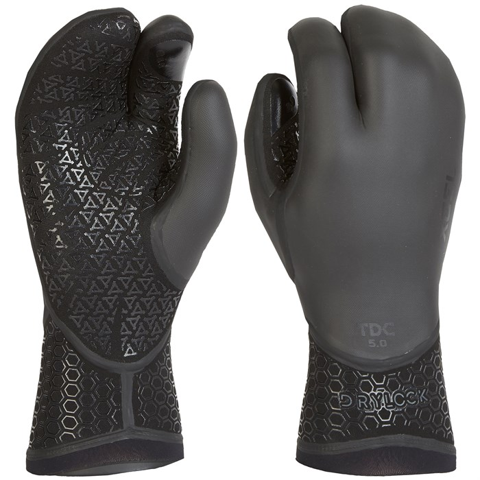XCEL - 5mm Drylock Texture Skin 3-Finger Gloves