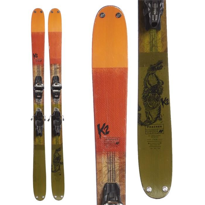 K2 Poacher Skis + Marker Griffon Demo Bindings 2017