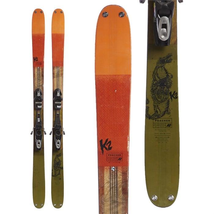 K2 - Poacher Skis + SP10 Demo Bindings 2017 - Used