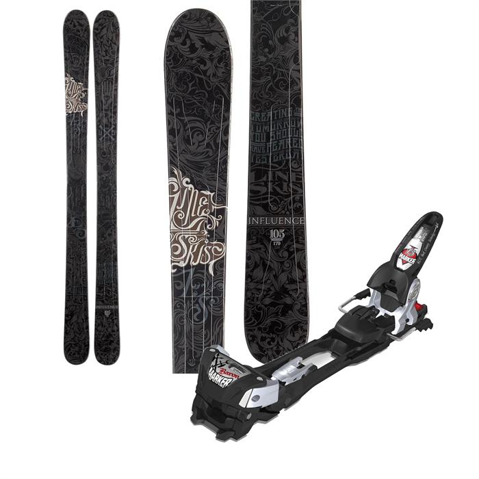 Line Skis - Line Influence 105 Skis + Marker Baron Bindings 2013