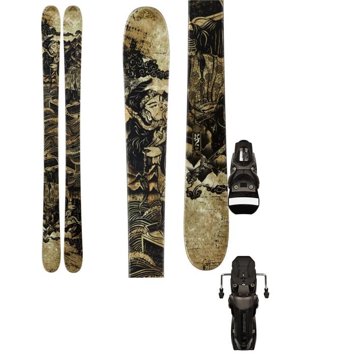 K2 - Kung Fujas Skis + Rossignol Axial2 120 XL Bindings 2013