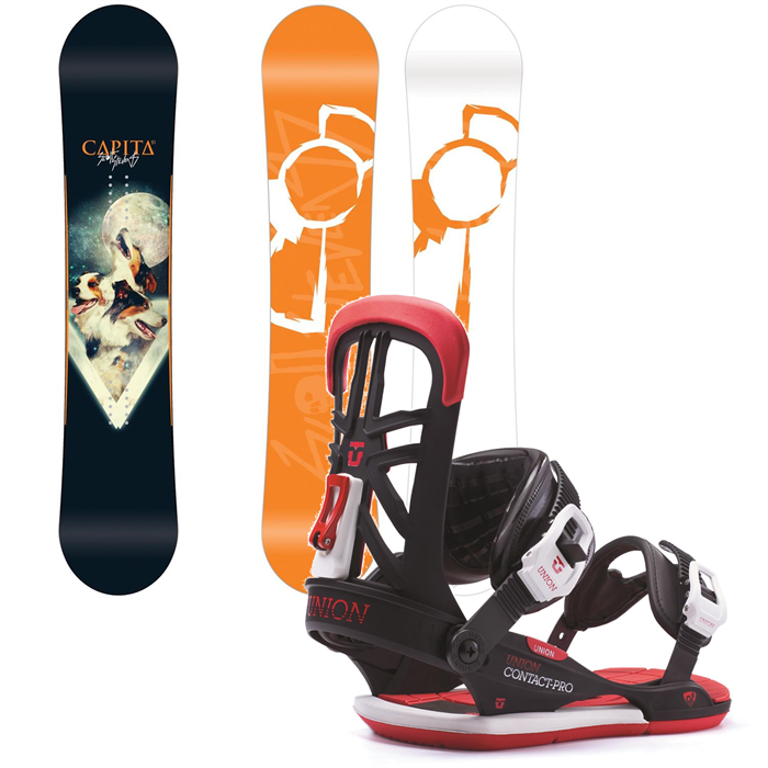 CAPiTA - Scott Stevens Pro Snowboard + Union Contact Pro Bindings 2014