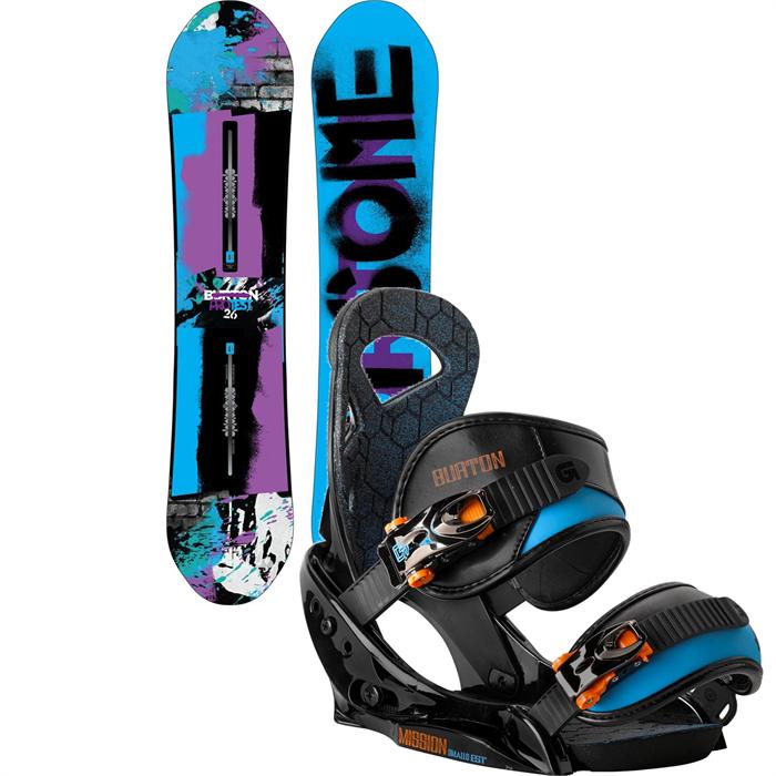 Burton - Protest Snowboard + Mission Smalls EST Bindings - Boy's 2014