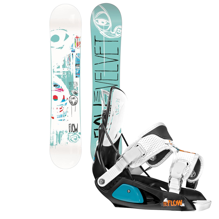 Flow - Micron Velvet Snowboard + Micron Bindings - Kid's 2014