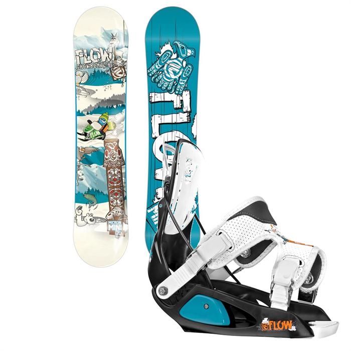Flow - Micron Mini Snowboard + Micron Bindings - Kid's 2014