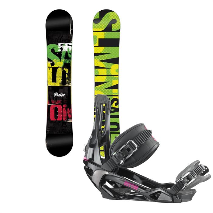 Salomon - Pulse Snowboard + Rhythm Bindings 2014