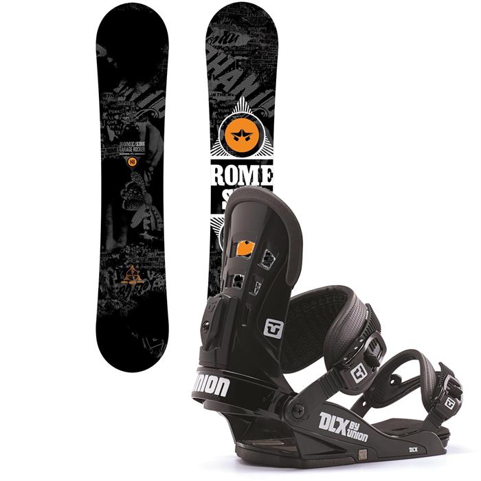 Rome - Garage Rocker Snowboard + Union DLX Bindings 2014