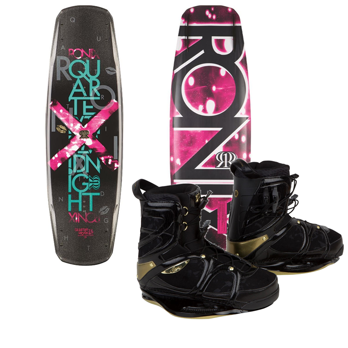Ronix - Quarter 'Til Midnight Wakeboard + Faith Hope Love Bindings - Women's 2014