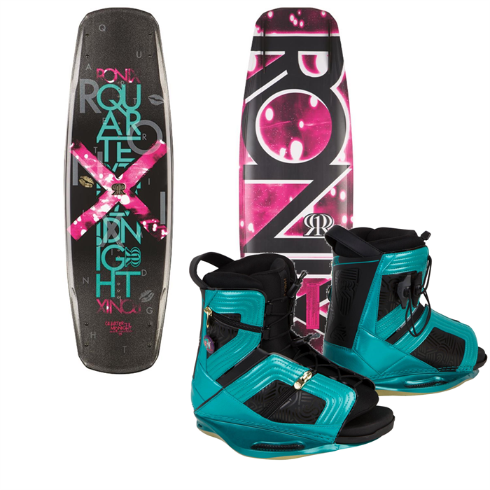 Ronix - Quarter 'Til Midnight Wakeboard + Halo Bindings - Women's 2014