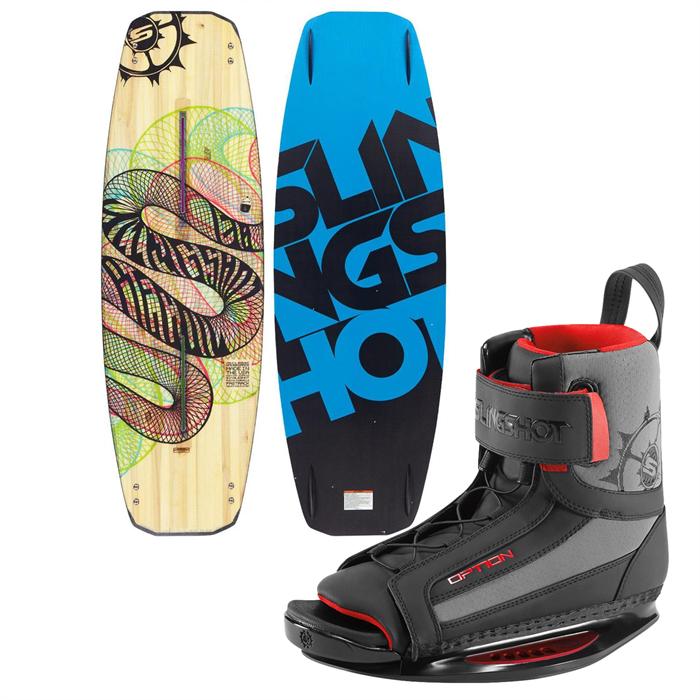 Slingshot - Recoil Wakeboard + Option Open Toe Wakeboard Bindings 2014