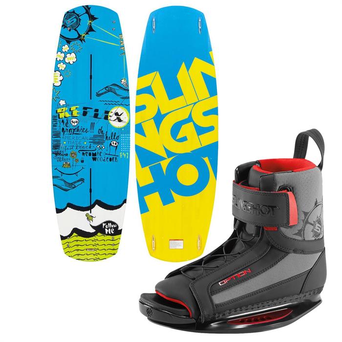 Slingshot - Reflex Wakeboard + Option Open Toe Wakeboard Bindings 2014