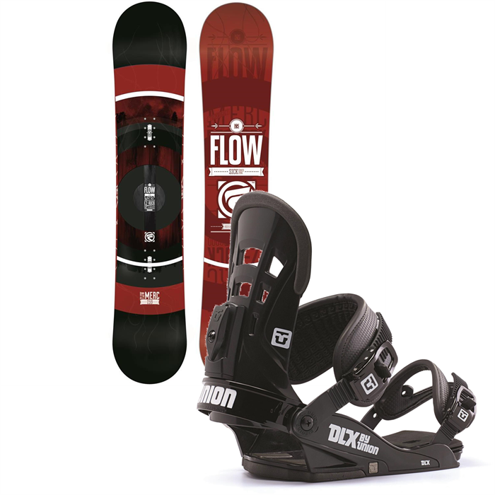 Flow - Merc Snowboard + Union DLX Bindings 2014