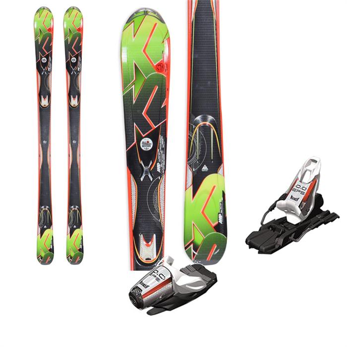 K2 - A.M.P. Rictor Skis + Marker 10.0 EPS Bindings 2013