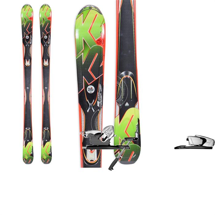 K2 - A.M.P. Rictor Skis + Salomon Z12 Bindings 2013
