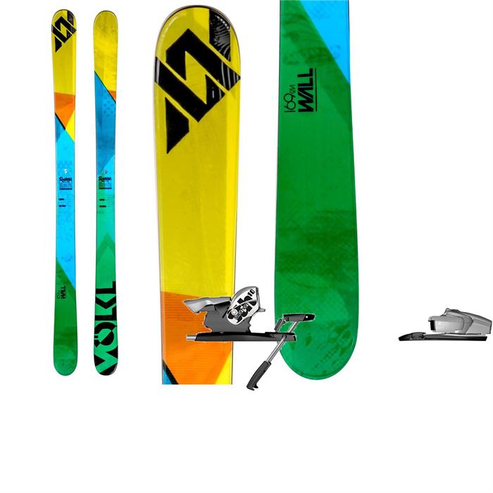 Volkl - Wall Skis + Salomon STH 10 Bindings 2013