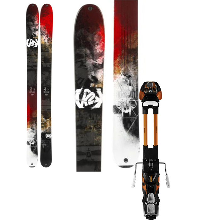 K2 - Annex 118 Skis + Atomic Tracker 16 Large AT Ski Bindings 2014
