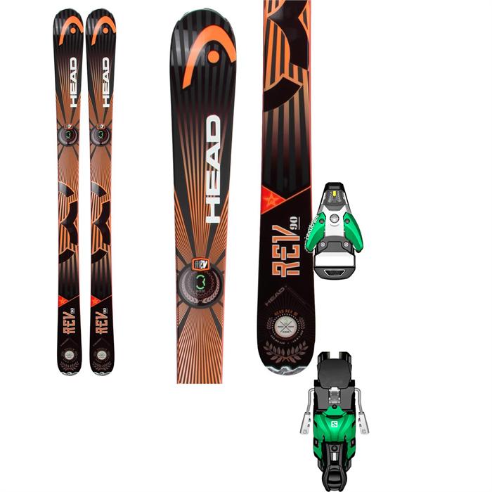 Head - REV 90 Skis + Salomon STH2 13 Bindings 2014