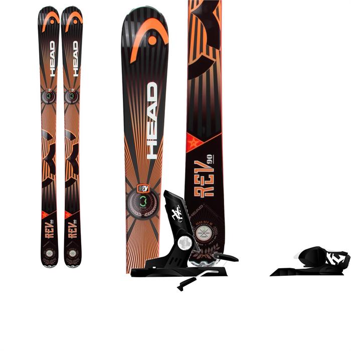 Head - REV 90 Skis + Rossignol Axial2 120 Bindings 2014