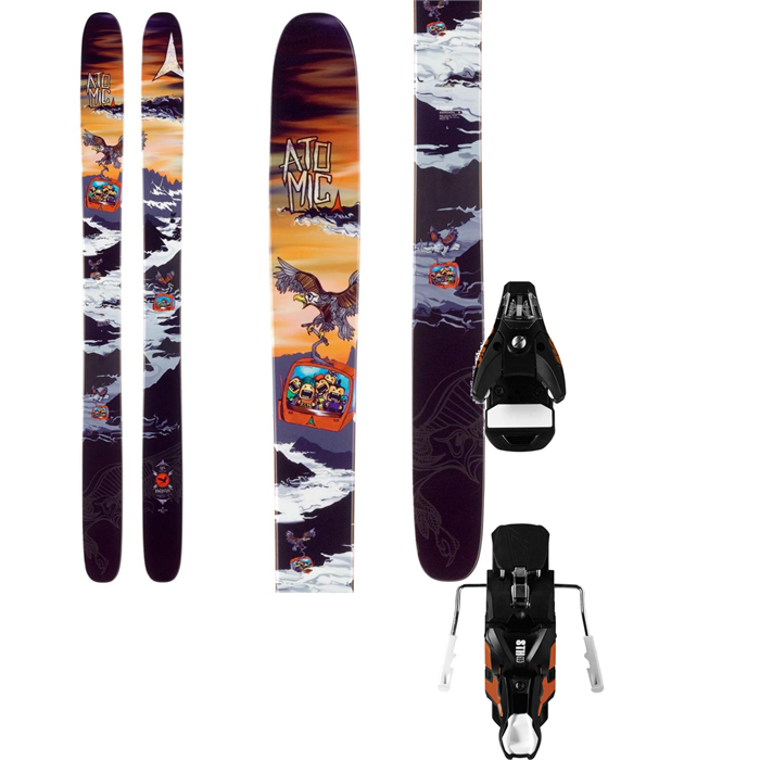 Atomic - Bent Chetler Skis + STH2 16 Bindings 2014