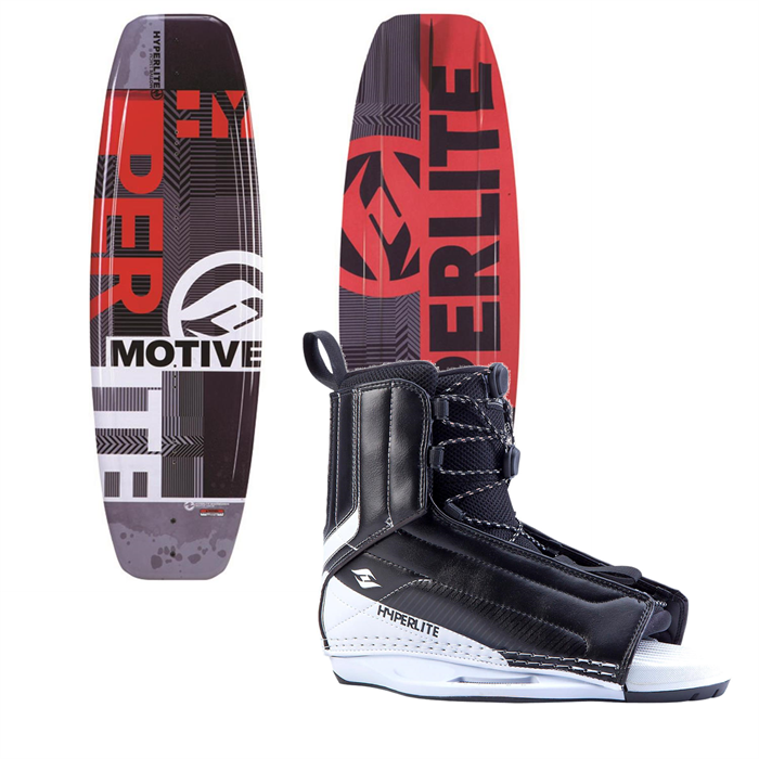 Hyperlite - Motive Jr. Wakeboard + Hyperlite Remix Bindings - Boy's 2014