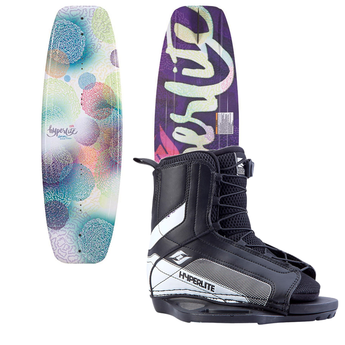 Hyperlite - Divine Jr. Wakeboard + Hyperlite Remix Jr. Bindings - Girl's 2014