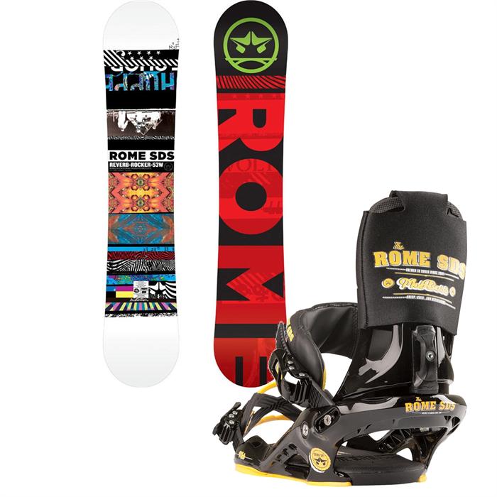 Rome - Reverb Rocker Wide Snowboard + Mob Boss Bindings 2013