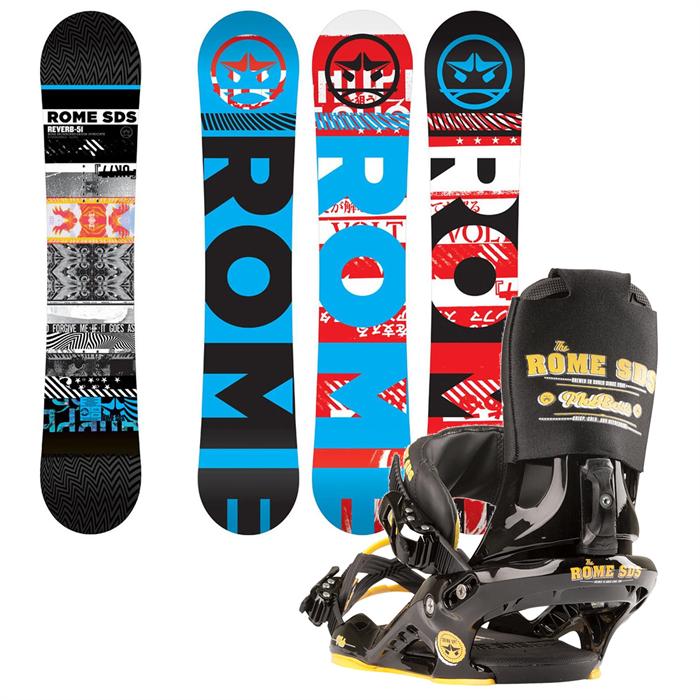 Rome - Reverb Snowboard + Mob Boss Bindings 2013
