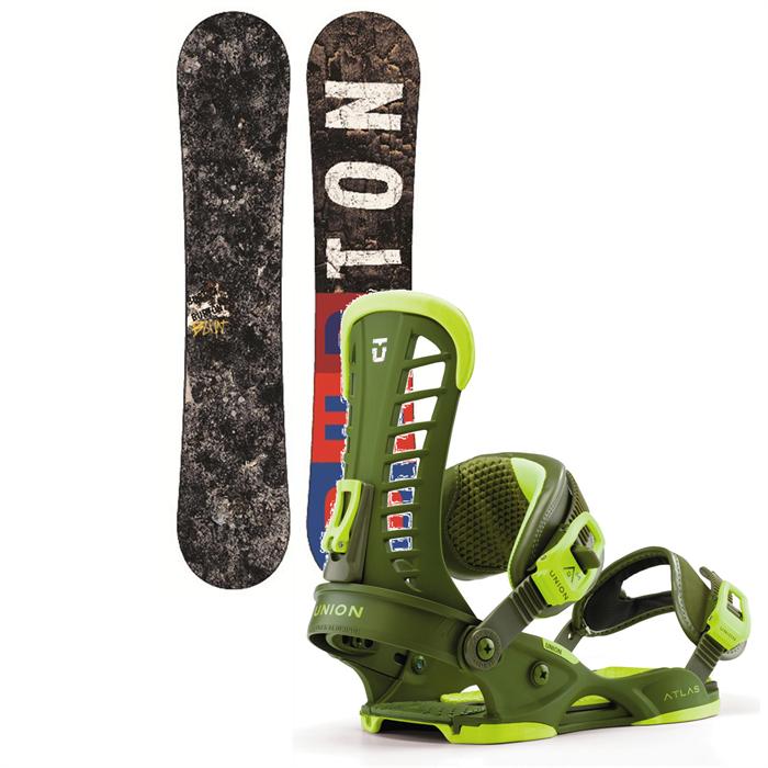 Burton - Blunt Wide Snowboard + Union Atlas Bindings 2013