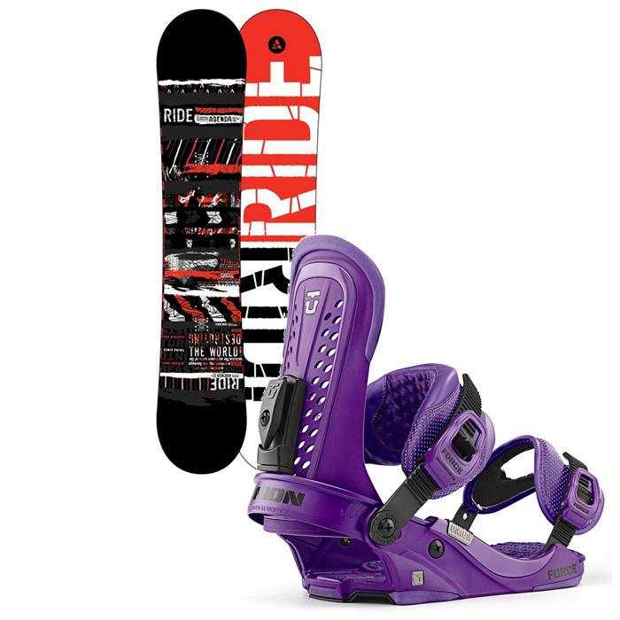 Ride - Agenda Wide Snowboard + Union Force Bindings 2013
